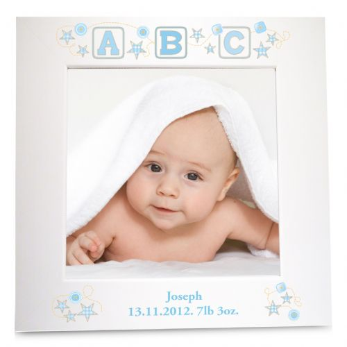 Personalised Blue ABC White 6x4 Frame